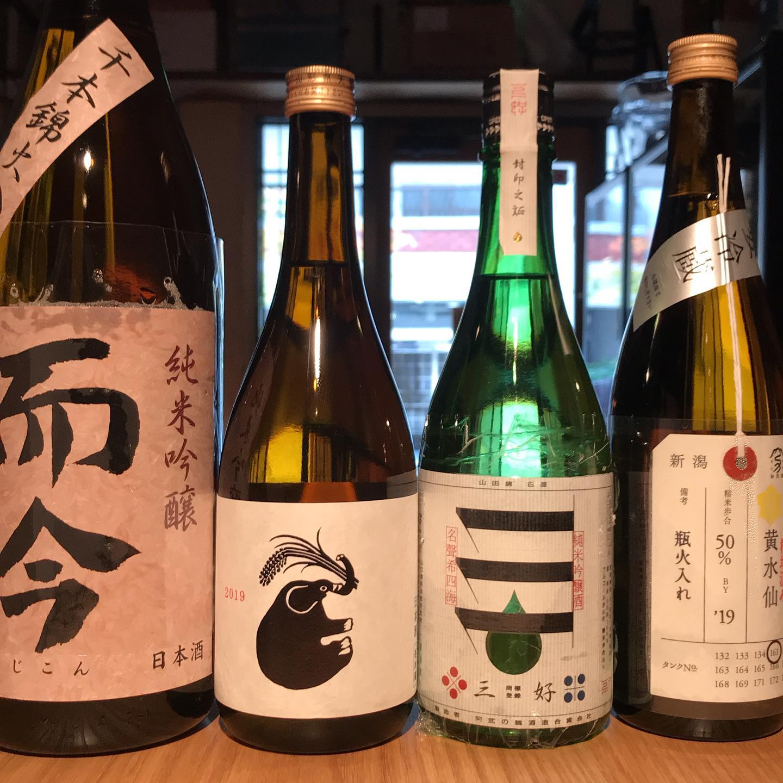 今日8/22も17時より営業してます。本日の新入荷!日本酒ずら〜り!明日8/23は定休日です。#イルフェソワフ #ワイン#日本酒 #薬院#警固