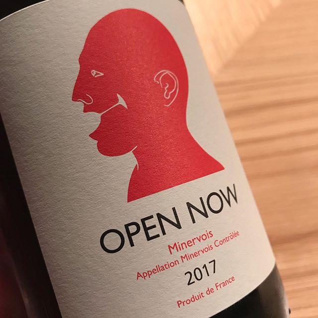 オープンナウ@ミネルヴォア週の始まりはこんなお気軽で陽気な赤ワインはいかがですか?#イルフェソワフ #ワイン#日本酒 #薬院#警固#グラスワイン